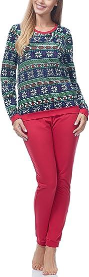 TALLA S. Ladeheid Pijama Conjunto Camisetas y Pantalones Ropa de Casa Mujer LA40-103