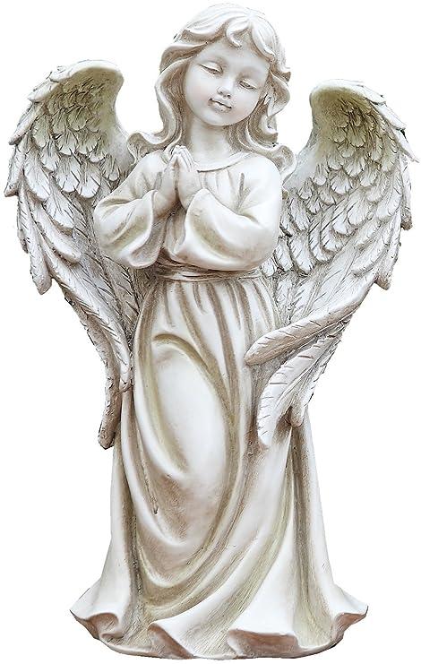 Amazon Com Napco 17908 Praying Angel Girl Garden Statue 8 75