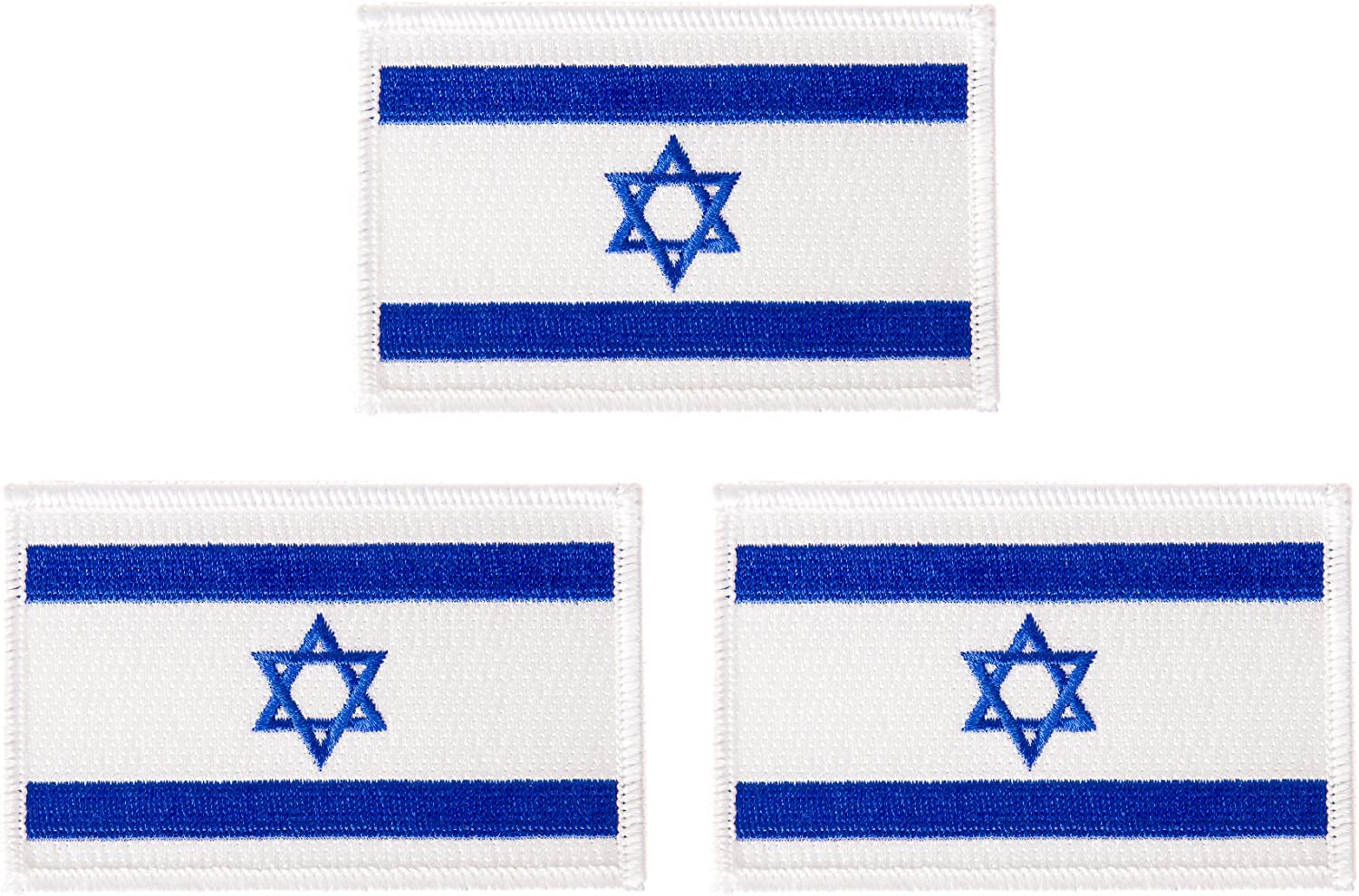 "Israel Flag Embroidered 3/"" Patch Israeli Flag Patch FAST USA SHIPPING"