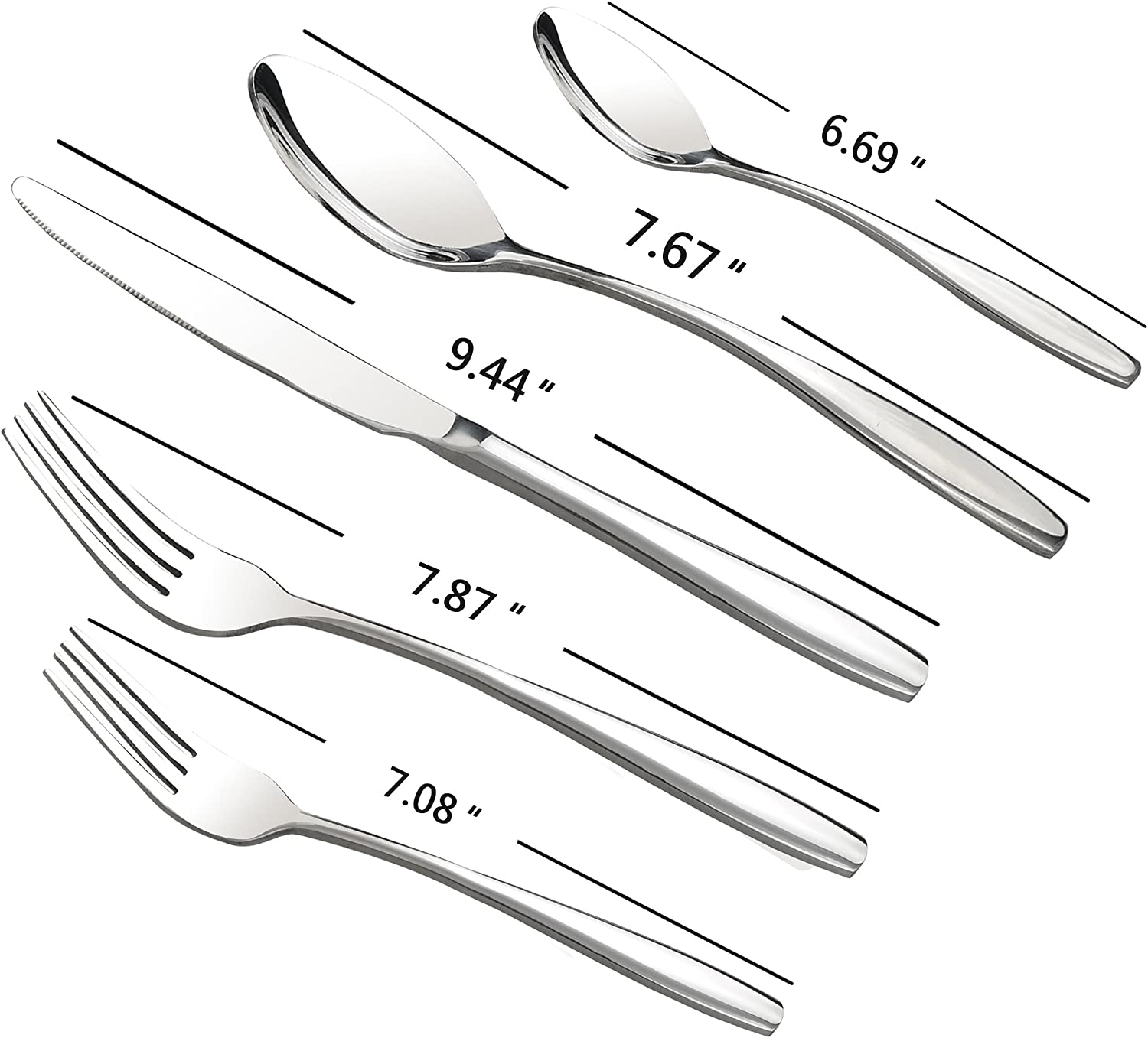Service for 12 Ggbin 60 pieces Stainless Steel Silverware Set