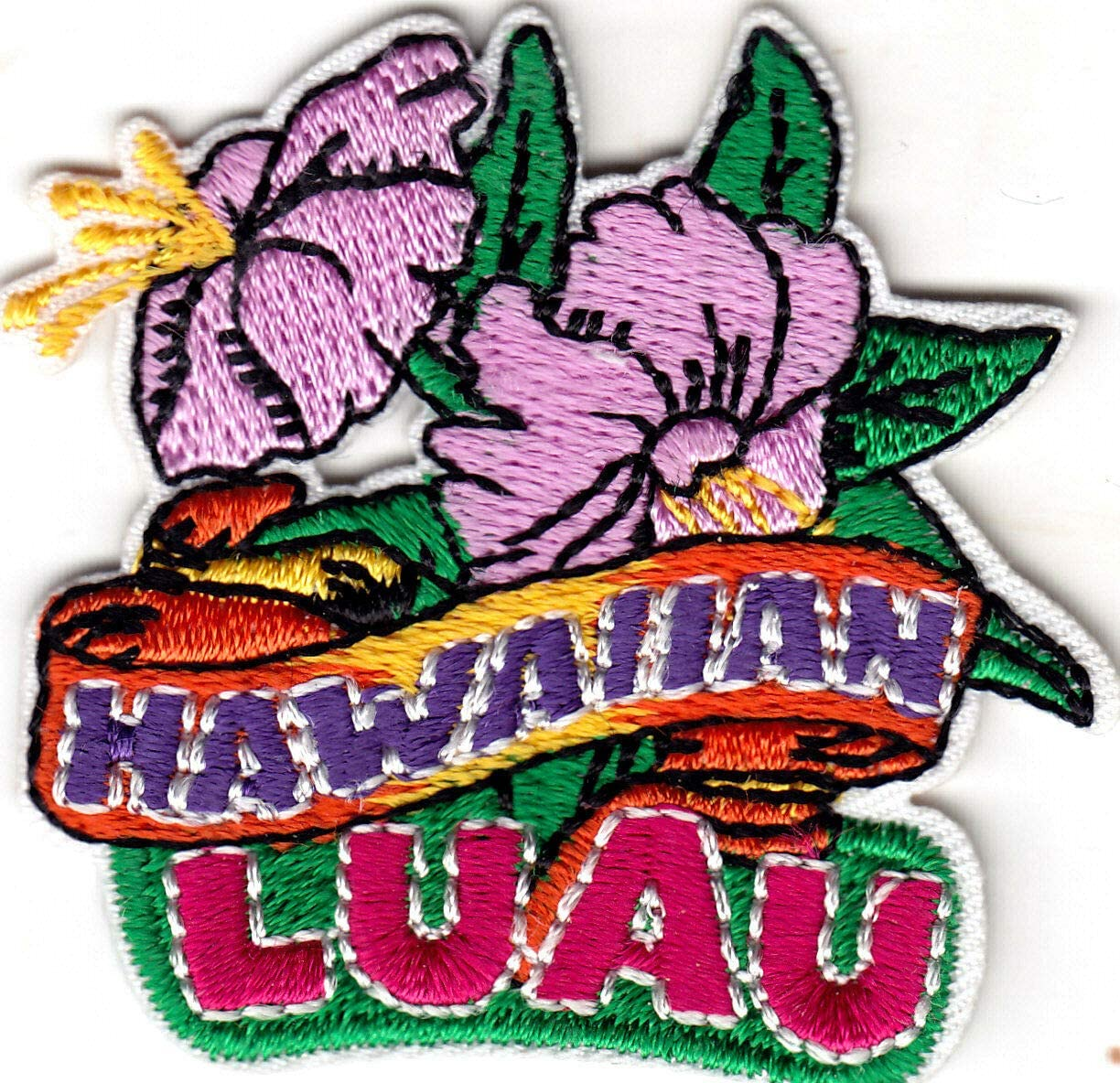 Aloha Patch Beach Hawaii Tropical Vacation Embroidered Iron On Applique
