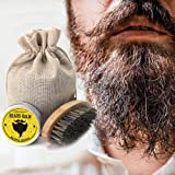 Beard Brush Comb Set, niceEshop(TM) Men Beard Grooming Trimming Kit with Wooden Comb, Beard Brush, Unscented Beard Oil, Bear Balm, Barber Scissor and Cotton Bag for Facial Hair Care and Mustache