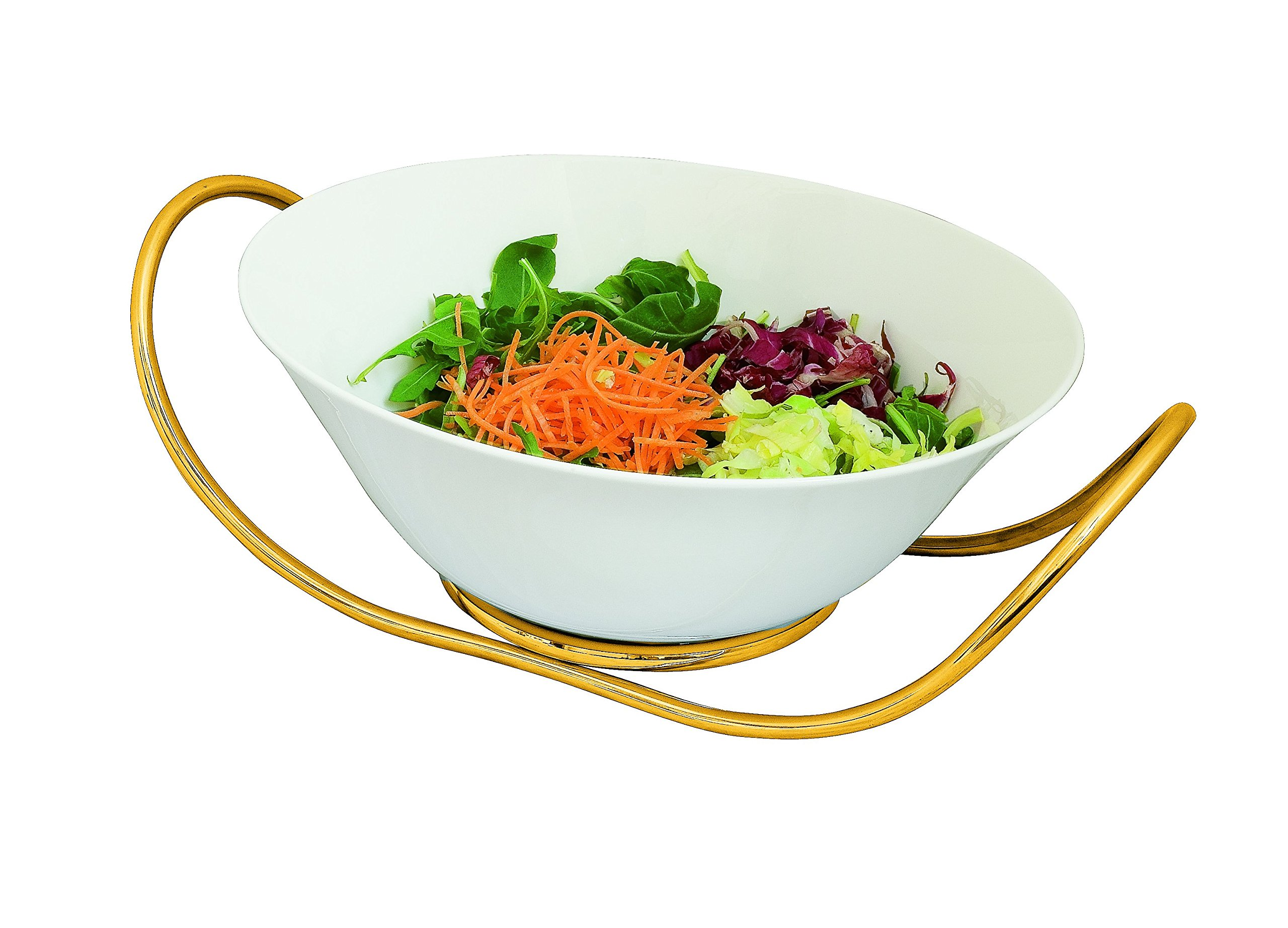 Mepra Due Ice Oro Salad Bowl with Stand