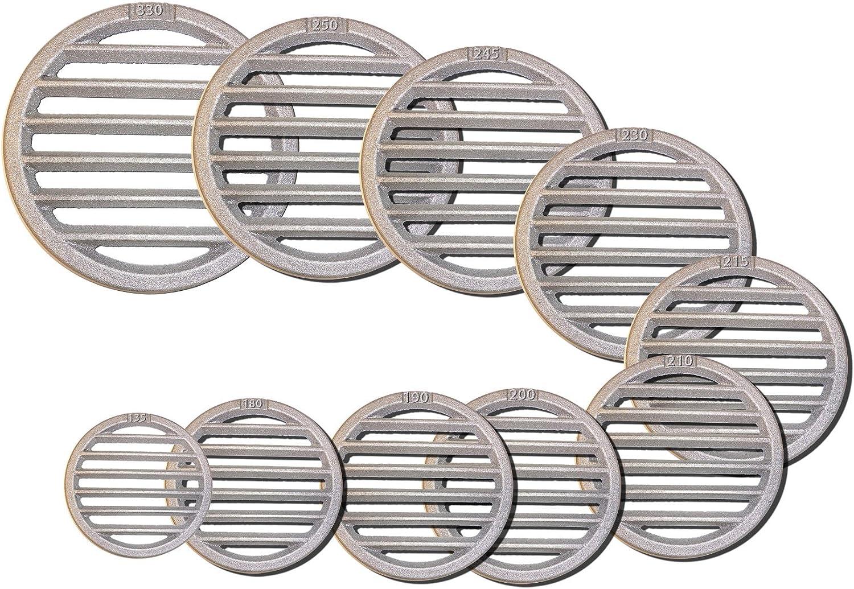 varios di/ámetros Rejillas redondas 210mm Durchmesser