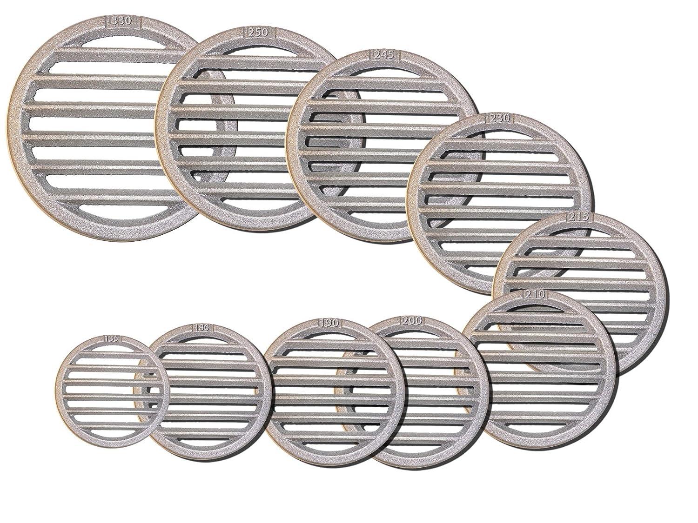 Rejillas redondas, varios diá metros, 200mm Durchmesser varios diámetros KS24