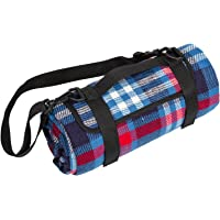 Waterproof Picnic Blanket Mat Checkered Picnic Blanket with Shoulder Strap Suitable for Outdoor Travel Barbecue Camping Life