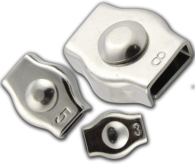 OPIOL Morsetto in acciaio INOX V4A per fune in acciaio AISI 316