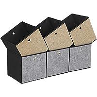 SONGMICS Lot de 6 Boites de Rangement Pliables, Cubes de Rangement pour Vetements, Organiseur de Jouets 30 x 30 x 30 cm ROB30GB