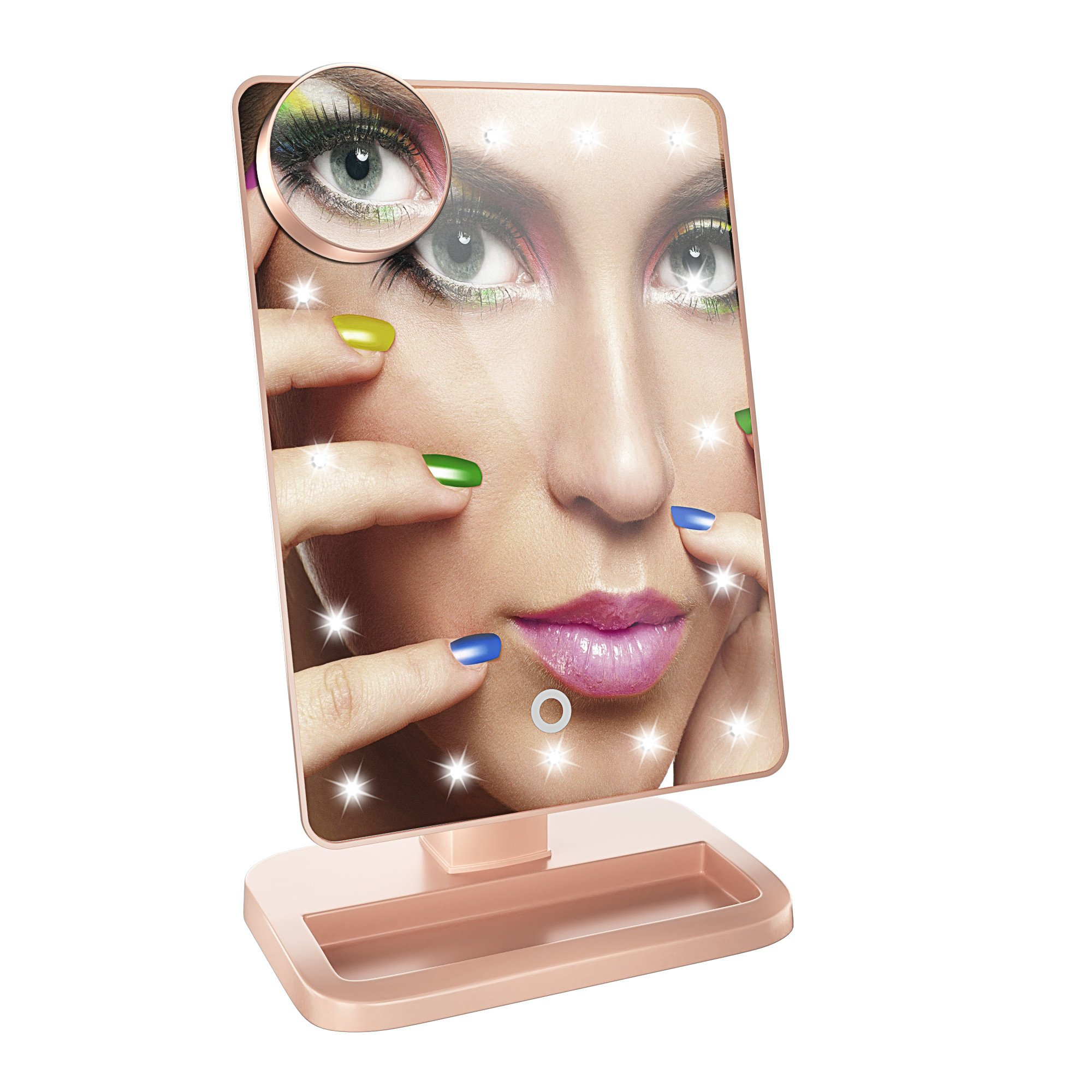 Briday Led Bluetooth Speaker Makeup Mirror with Touch Screen and 10X Magnification