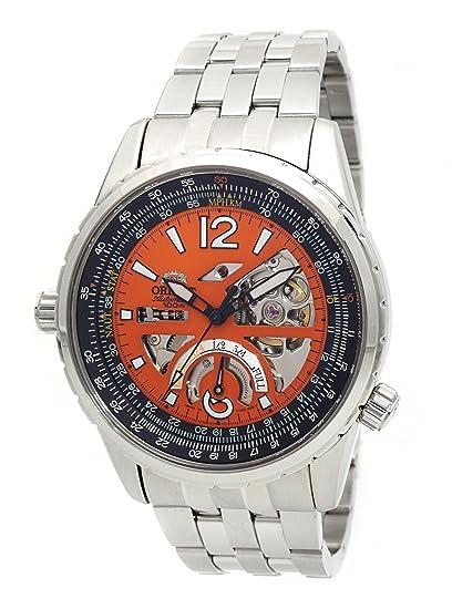 Orient de hombre cft00005 m Potencia reserva semi-skeleton naranja reloj automático: Amazon.es: Relojes