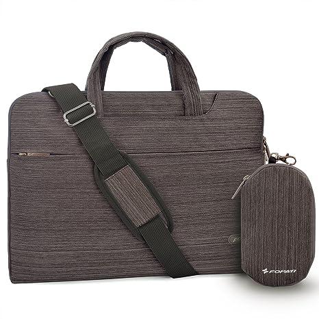 bba80d5bb3 Laptop Bag 15.6 inch, FOPATI 15-15.6 Inch Laptop Sleeve Case Briefcase  Shoulder Bag