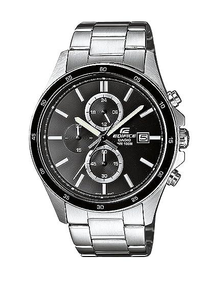 CASIO Edifice EFR-504D-1A1VEF - Reloj analógico de cuarzo con correa de  acero inoxidable para hombre (con cronómetro a61fb087adcd