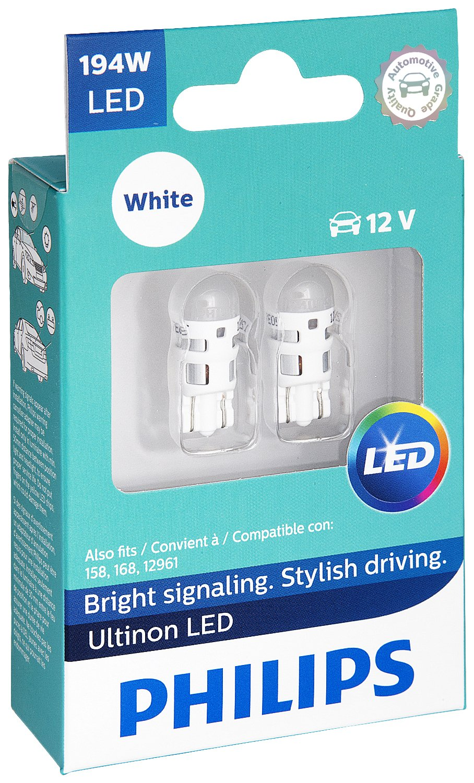 Philips 194 Ultinon LED Bulb (White), 2 Pack