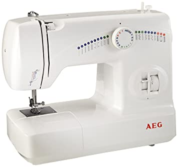 AEG 210 - Máquina de coser, 25 programas y diferentes funciones: Amazon.es: Hogar