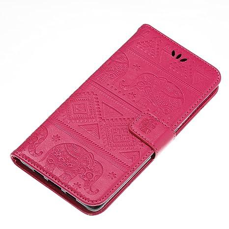 Funda XiaoMi Mi Note 2, CaseLover Piel Libro Cuero Elefante Impresión Carcasa para XiaoMi Mi Note 2 con TPU Silicona Case Cover Interna Suave Flip ...