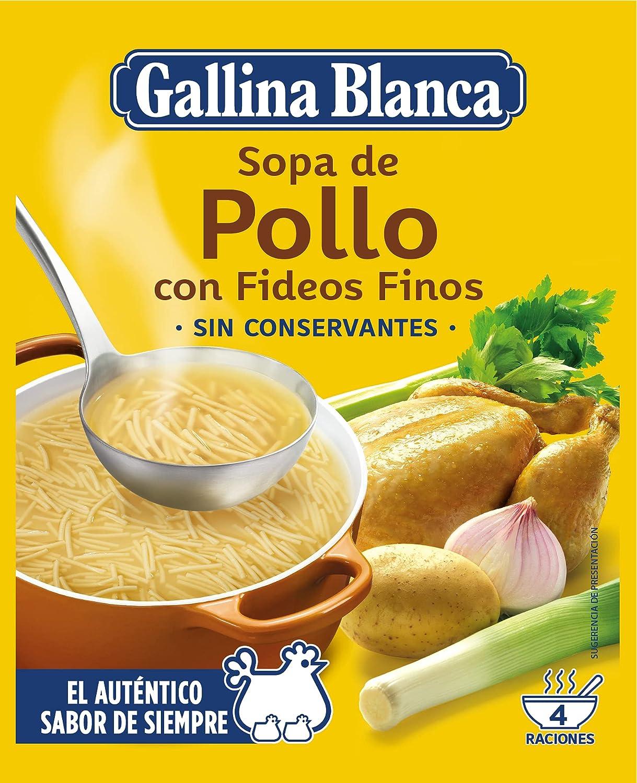 Sopa De Pollo Fideos Finos Gallina Blanca 71 Grs Amazon Co Uk Grocery