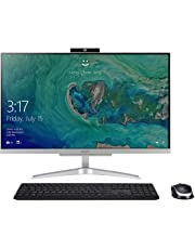 "Acer Aspire C24-865-UA91 AIO Desktop, 23.8"" Full HD, 8th Gen Intel Core i5-8250U, 8GB DDR4, 1TB HDD, 802.11AC WiFi, Wireless Keyboard and Mouse, Windows 10 Home, Silver"