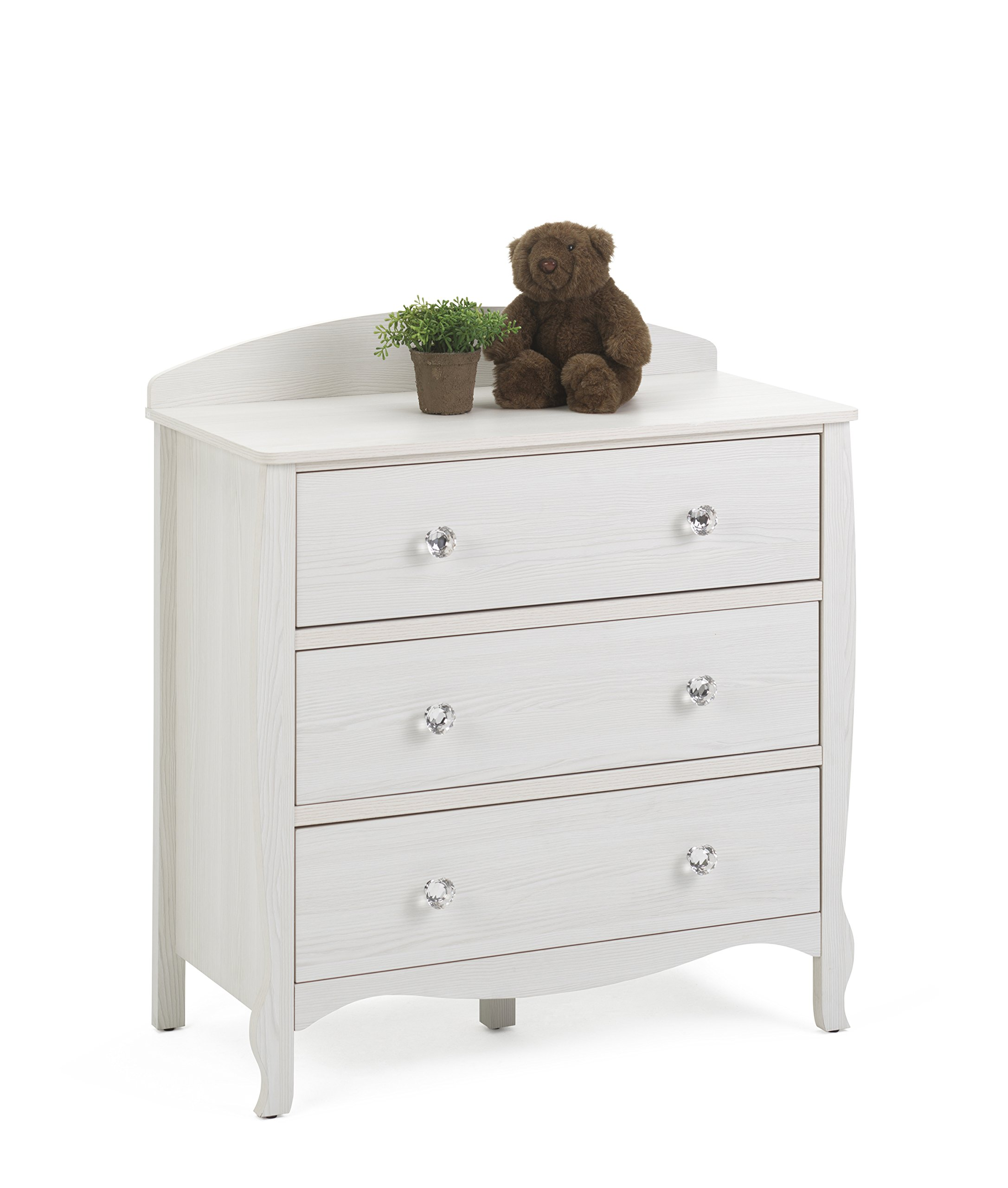 4D Concepts Lindsay 3 Drawer Chest in Stone White Oak