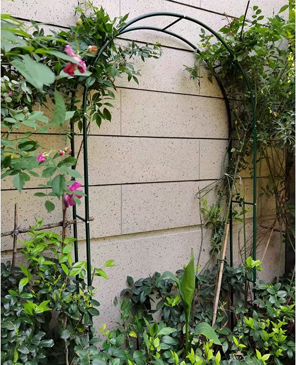 YYHJ Garden Arch Stand Trellis,Outdoor Arches and Arbor,Metal Pergola Archway,for Various Climbing Plant Wedding,Easy to Assemble