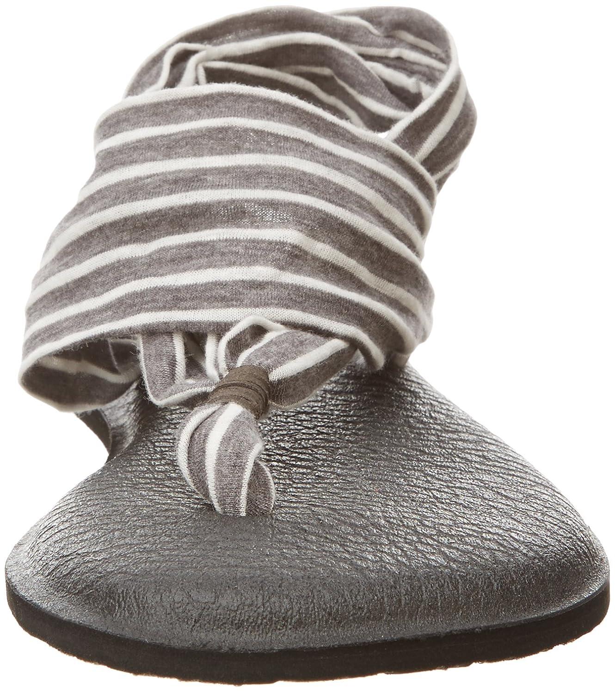 Sanuk Yoga Damen Yoga Sanuk Sling#2 Prints Zehentrenner, Grau 9fc865