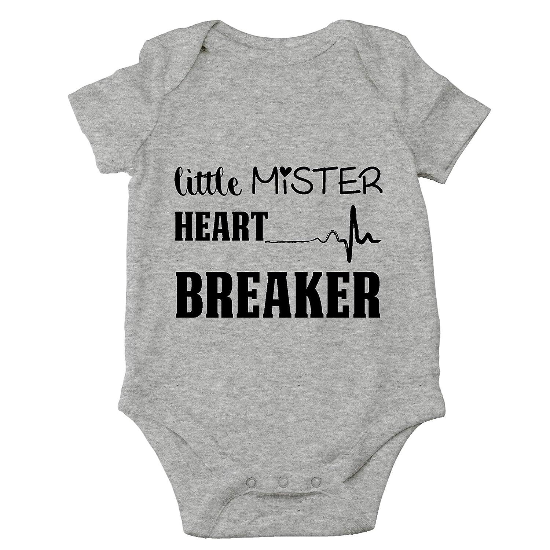 Little Mister Heart Breaker Cute Infant One-Piece Baby Bodysuit