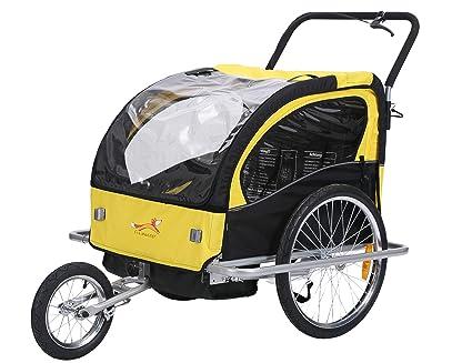 fixi Master Multifunktion 2 en 1 Remolque de bicicleta/Jogger Amarillo bt502 nuevo