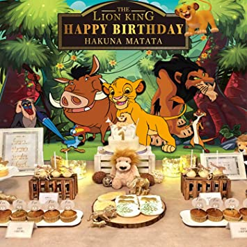 Lion King Backdrop | Simba | Boys | Baby Birthday | Party Supplies | Kids | Banner Photography Decorations