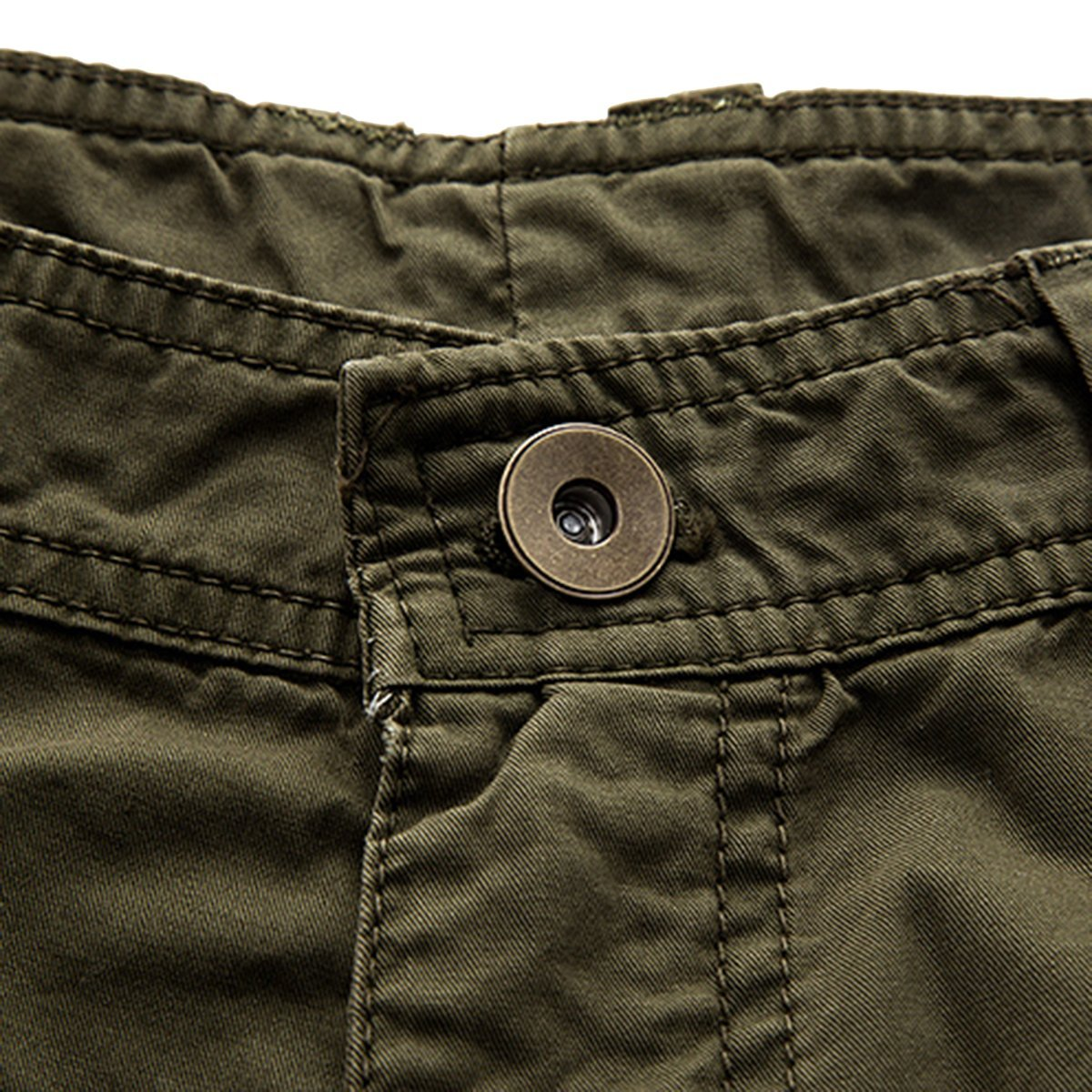 LOCALMODE Men's Casual Cotton Multi Pocket Twill Cargo Shorts Blue 36 by LOCALMODE (Image #5)