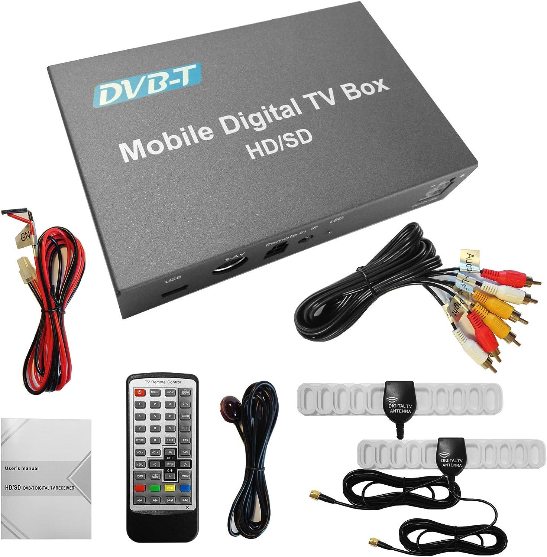 XTRONS dual Antenne Auto Mobiler DVB-T DVB-T2 Freeview digital TV ...