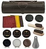 Stone & Clark 12PC Shoe Polish & Care Kit, Leather Shoe
