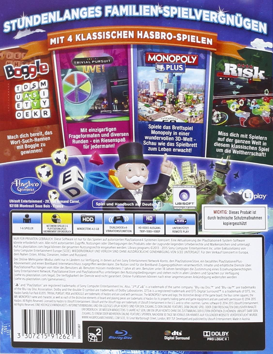 Ubisoft Hasbro Family Fun Pack, PS4 - Juego (PS4, PlayStation 4 ...