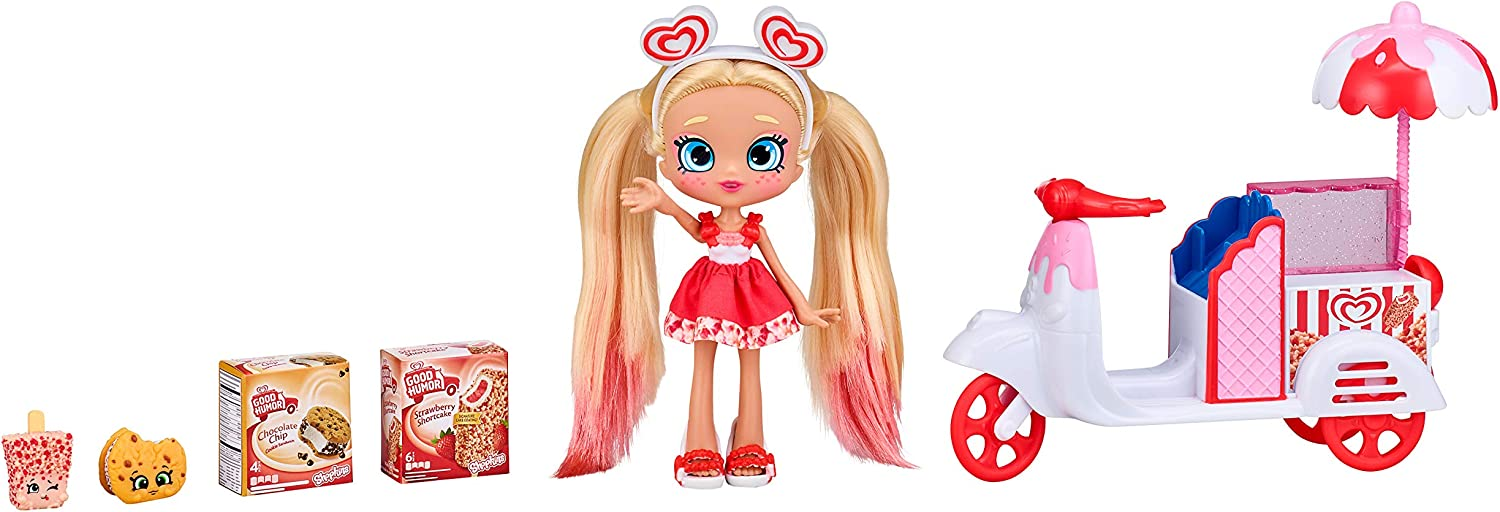 Shopkins Real Littles Stacey Cakes + ICY Treats Scooter