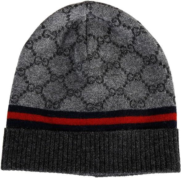 Gucci gorro de mujer de lana sombrero nuevo gris: Amazon.es ...
