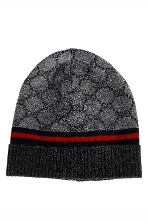 Gucci bonnet femme en laine gris  Amazon.fr  Vêtements et accessoires 1443ce31c8f