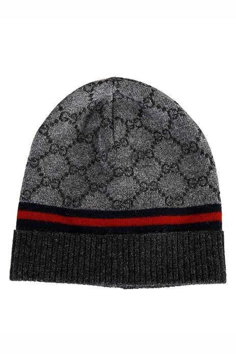 Gucci gorro de mujer de lana sombrero nuevo gris: Amazon.es: Zapatos y complementos