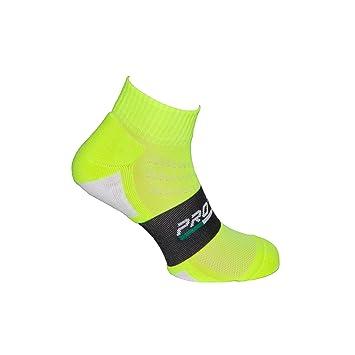 Pro-Line - Calcetines deportivos cortos para correr, tenis, balconcesto, voleibol, etc. (1 par), color amarillo fluorescente: Amazon.es: Deportes y aire ...