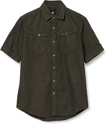 G-STAR RAW ARC 3D Slim Short Sleeve Camisa para Hombre: Amazon.es: Ropa y accesorios