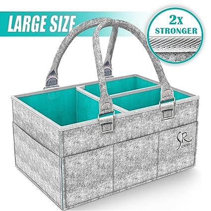 Organizador de pañales para bebé, organizador de pañales para bebé, cestas de regalo para