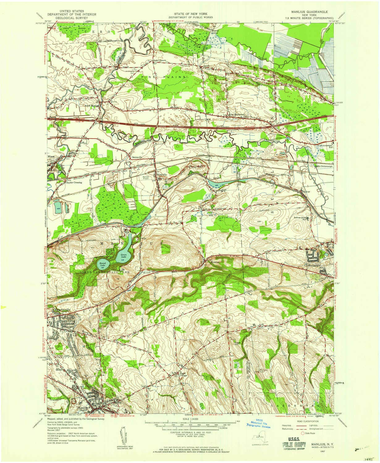 Topographic Map New York State.Amazon Com Yellowmaps Manlius Ny Topo Map 1 24000 Scale 7 5 X