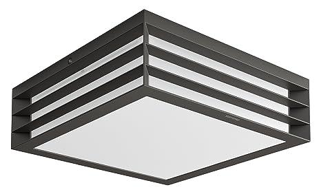 Plafoniera Da Esterno Rettangolare : Philips moonshine lampada da soffitto esterno grigio scuro