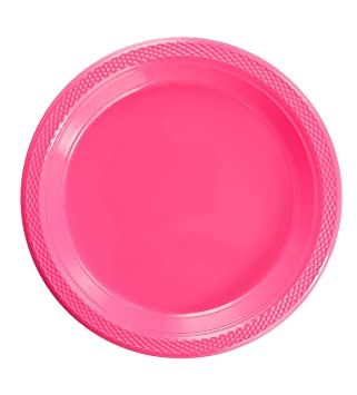 Exquisite 9 Inch. Cerise plastic plates - Solid Color Disposable Plates - 100 Count  sc 1 st  Amazon.com & Amazon.com: Exquisite 9 Inch. Cerise plastic plates - Solid Color ...