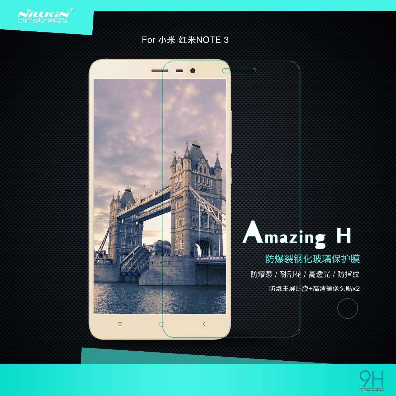 Nillkin Amazing H - Protector de pantalla 9H cristal templado frontal de 0,3mm para Xiaomi Redmi Note 3