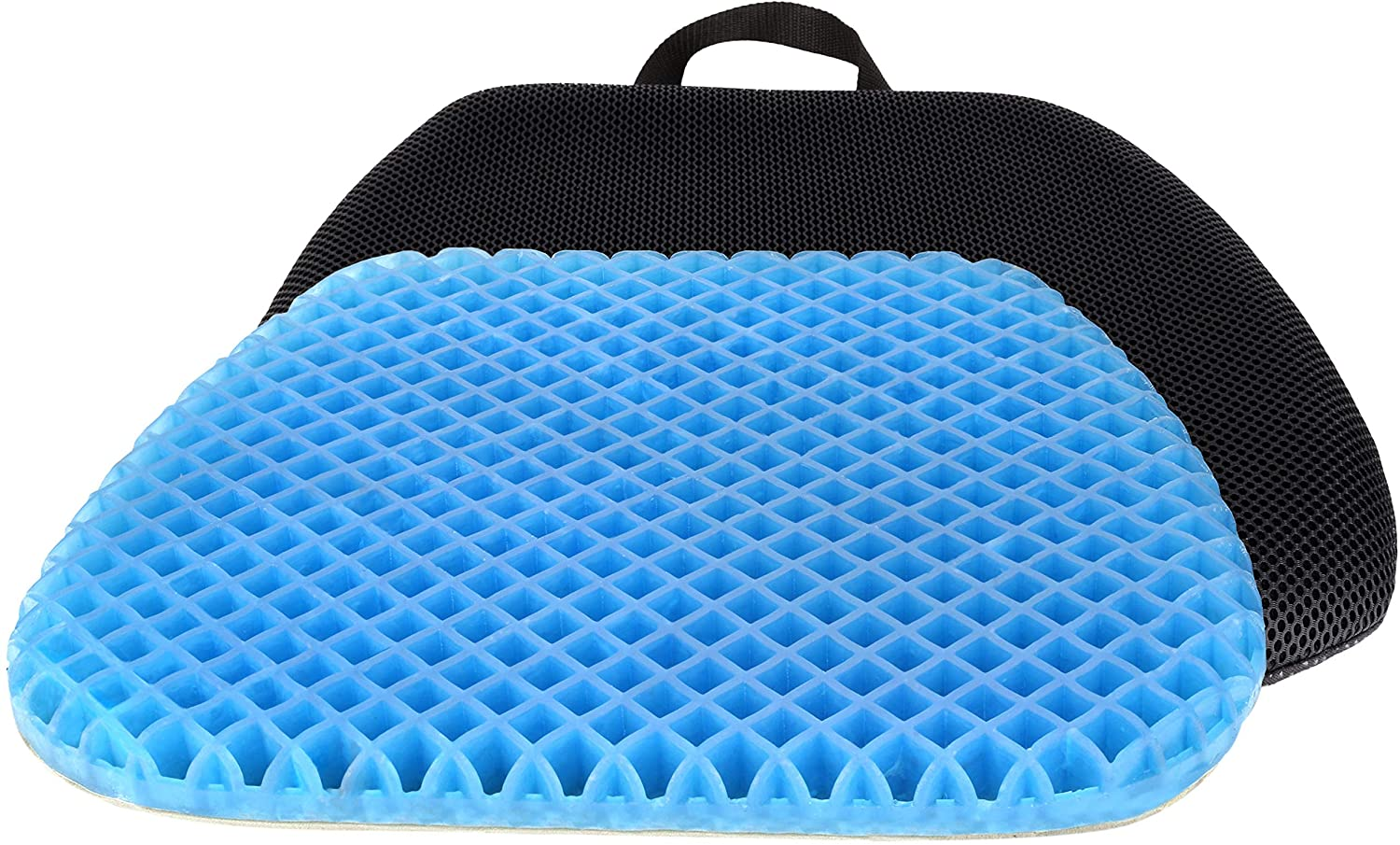 FOMI Premium All Gel Orthopedic Seat Cushion Pad for Car, Office Chair, Wheelchair, or Home. Pressure Sore Relief. Ultimate Gel Comfort, Prevents Sweaty Bottom, Durable, Portable 81ce2BL2BZnjL