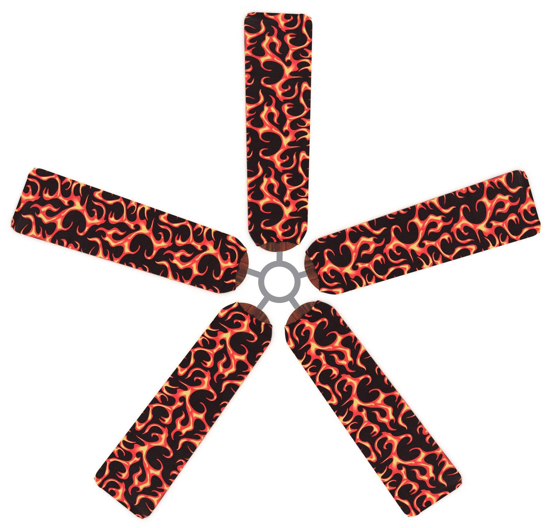 Fan Blade Designs Flaming Ceiling Fan Blade Covers
