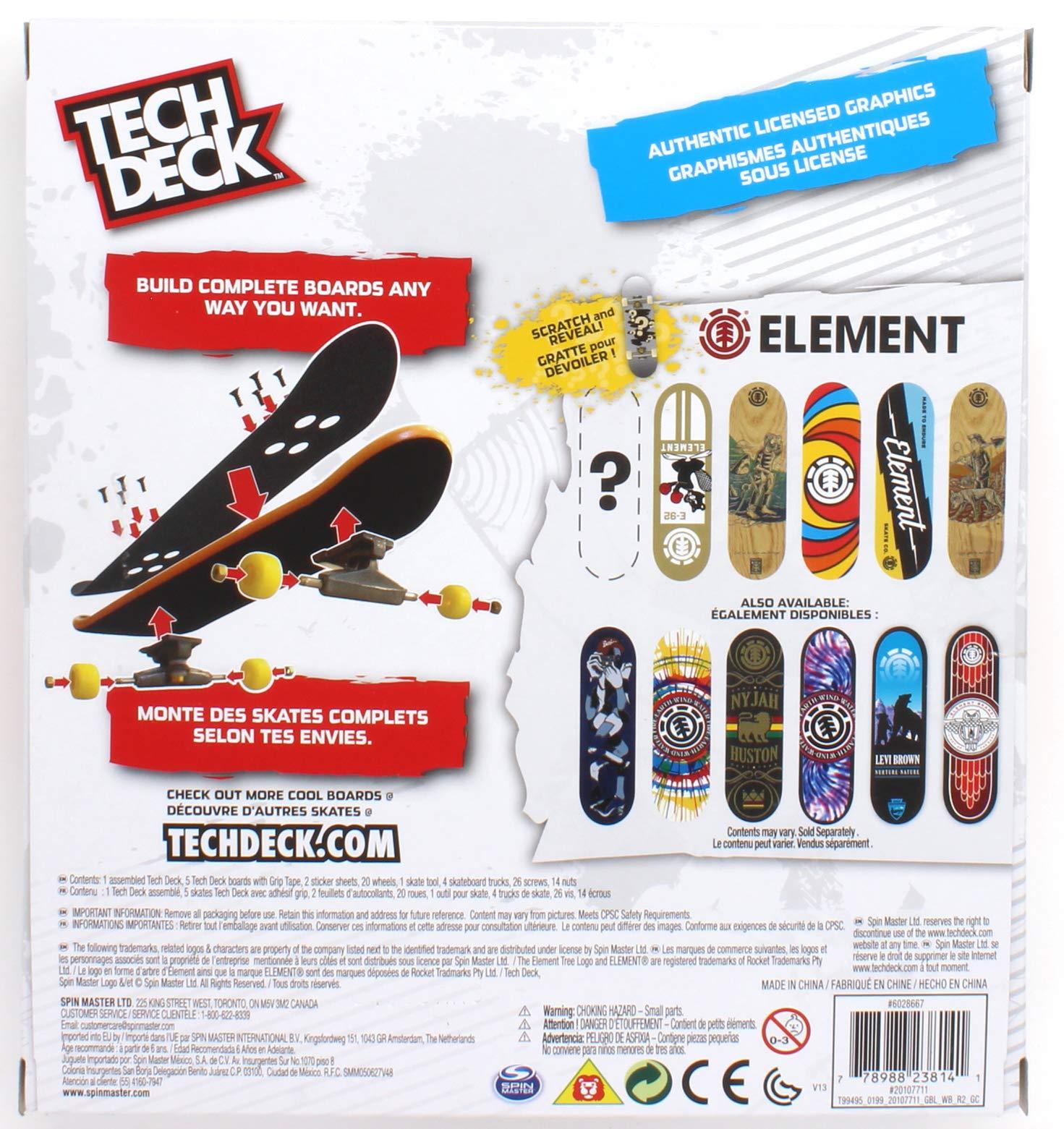 Tech Deck Element Skateboards Sk8shop Bonus Pack with 6 Fingerboards by Tech Deck Element (Image #1)