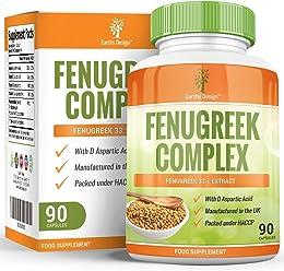 Fenogreco - Complejo con Magnesio - Zinc - L Arginina - 1320 mg - Sin Gluten