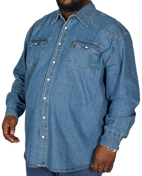 aa9f145fe399 Duke Western Style Denim Shirt 3XL 4XL 5XL 6XL: Amazon.co.uk: Clothing