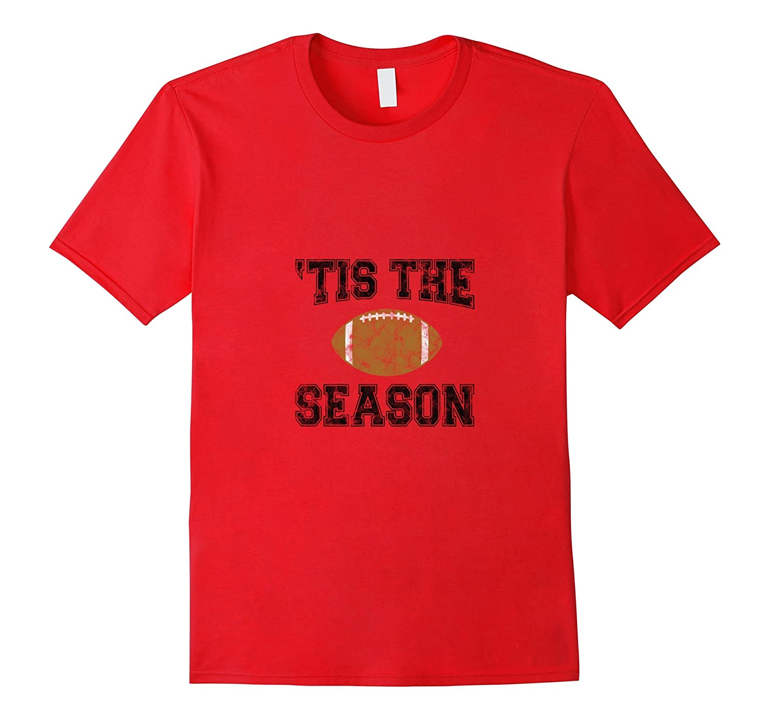 'Tis The Season (Black) - Football T-Shirt-Art