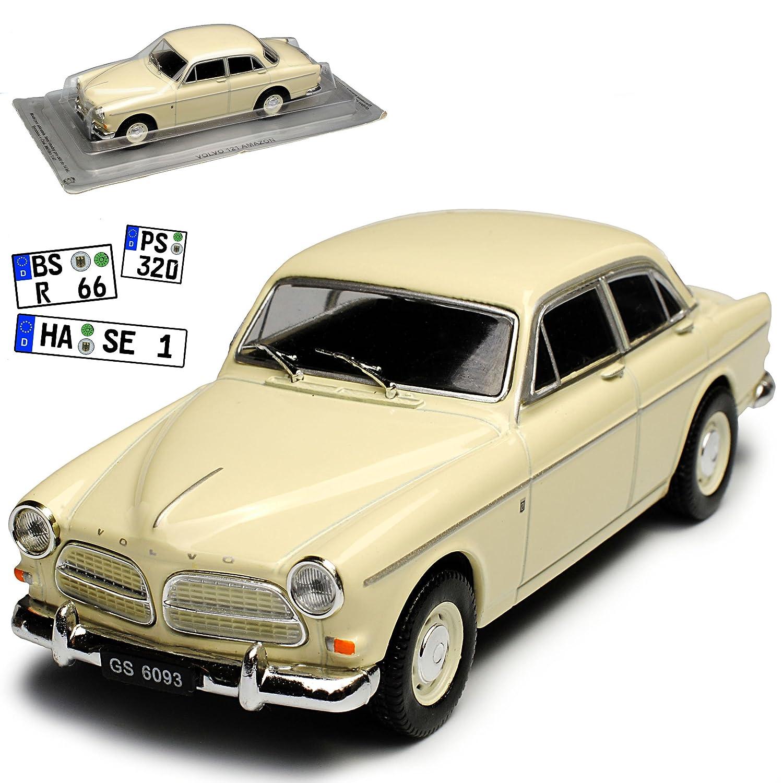 Volvo 121  Limousine Weiss Beige 1956-1970 1/43 Modellcarsonline Modell Auto Modellcarsonline Modell Auto