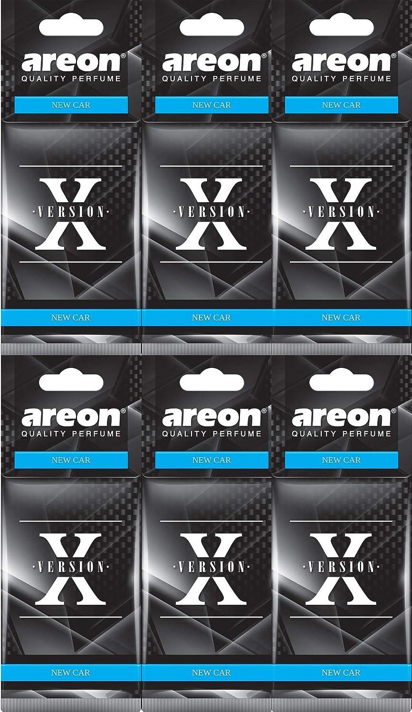Areon X Autoduft Neuwagen New Car Neues Auto Lufterfrischer Schwarz Aufhänger Anhänger Spiegel Pappe 2d Set Pack X 6 Auto